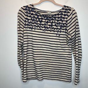 Boden Long Sleeved Stripped Tee | SIze 12